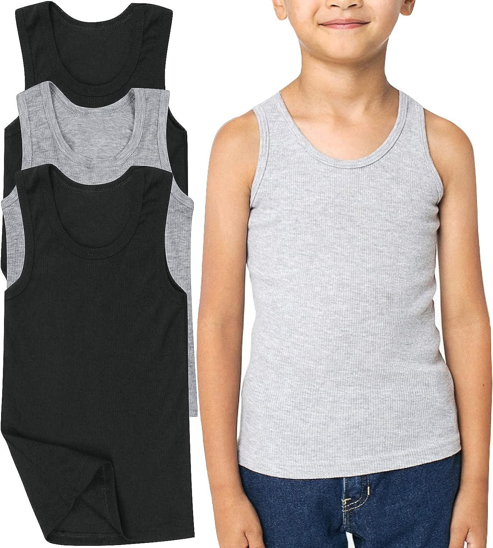 ToBeInStyle Boys' Pack of 3 or 6 Preshruncked A-Shirt