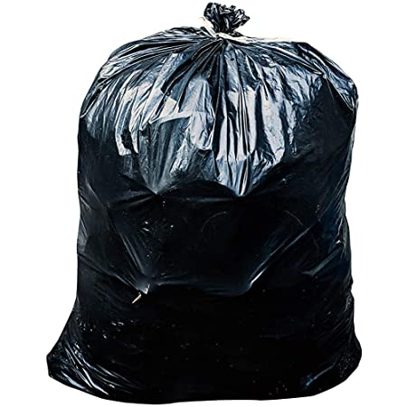 Toughbag 33 Gallon Durable Black Trash Bags 1 2 Mil Garbage Bag 33 X 39 Inch Made In Usa 100 Count Kitchen Dining