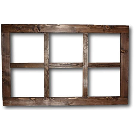 Wood Sign Picture Frame  0124 Vintage Wood Window Three 3 Pane French Country Modern Farmhouse Home Decor Wedding Seating Chart Menu Board