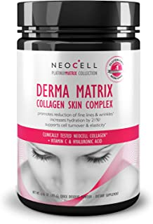 NeoCell Derma Matrix Collagen Skin Complex Powder - Collagen Types 1 & 3 - 6.46 Ounces (Packaging May Vary)