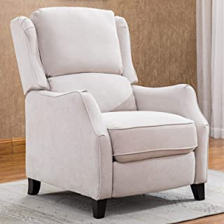 CANMOV Chair Recliner, Easy to Push Back Mechanism Recliner Chair, Buff-01