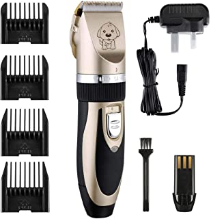 Professional Low Noise Cordless Dog Grooming Kit Electric Fur Hair Clippers Trimming Shaver With 4 Limiting Combs For Pet ...