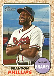 2017 Topps Heritage High Numbers #534 Brandon Phillips Atlanta Braves Baseball Card