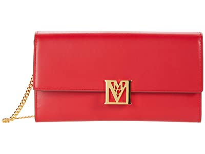 MCM Mena Flap Wallet/Trifold Large (Chinese Red) Handbags