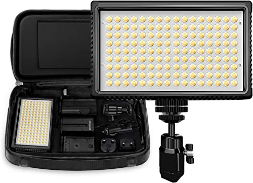 new arrival Polaroid Dimmable LED Camera/Video Light 144 w/ 2021 Variable Color popular Temperature, Li-Ion Battery & Charger, Swivel Head, EU/UK Adapters, Diffuser Filter & Carry Bag, 2+ Hour Run Time outlet online sale