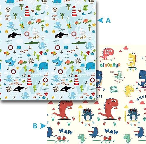 Crawling Mat ZI Ling Shop- Bebé Colchoneta de Arrastre Plegable, Doble Cara, Impermeable, Juego de Niños, Niños, Niños, Jugando Gimnasio, Alfombras, Alfombra Infantil (Color   B)
