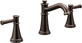 Moen T6405ORB Belfield Two-Handle 8-Inch Widespread Bathroom Faucet Trim Kit, Valve Required, Oil Rubbed Bronze