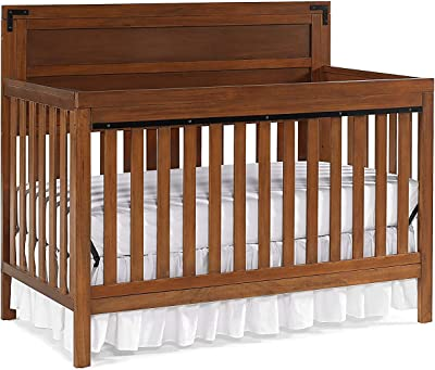 Fisher-Price Cranford 4-in-1 Convertible Crib, Country Brown
