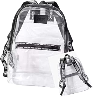 Pink Campus Backpack Clear