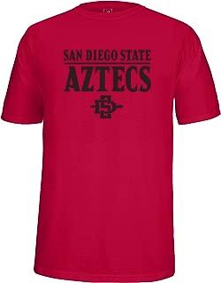 NCAA San Diego State Aztecs Adult School Name Over Logo Choice Tee, Medium, Cardinal