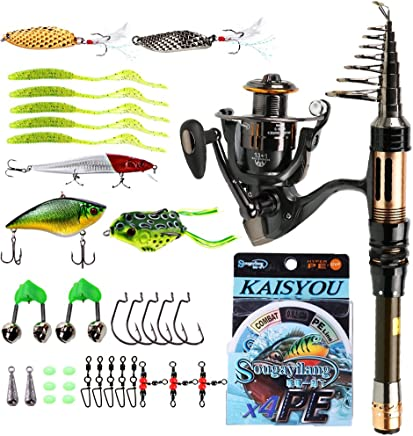 Sougayilang Mini Spinning Fishing Rod and Reel Combos...