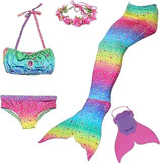 Wishliker Coda da Sirena Costumi da Bagno per Nuotare per Ragazze