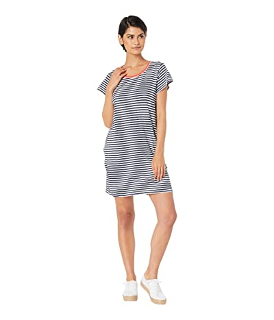 Splendid Seaside Stripe Dress (Navy/White) Women