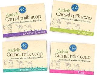 Aadvik Camel Milk Soaps | Combo Of All Variants | 14 Oz - 3.5 Oz x 4 Packs