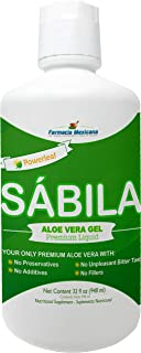 Powerleaf Aloe Vera (Sabila) Gel Liquid by Farmacia Mexicana - Healthy Gastric Support - 32 Oz