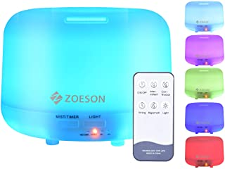 Zoeson Aromatherapy Essential Oil Diffuser, Ultrasonic Aroma Humidifier, Aromatherapy Diffusers (Mist Control, Waterless A...