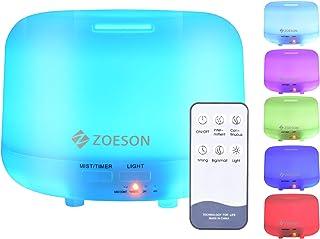 Zoeson 300mL Diffuseur d'Huiles Essentielles Diffuseur Aromathérapie Humidificateur Aromatique Ultrasonique, Lumière LED à...