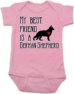 Vulgar Baby Bodysuit, My Best Friend is a German Shepherd