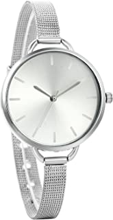 Avaner Luxury Women Quartz Ultra Thin Stainless Steel Mesh Milanese Strap Dress Wrist Watch