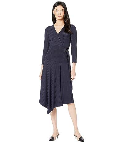 Sam Edelman Knit Faux Wrap Dress (Navy) Women