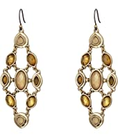 Lucky Brand - Citrine and Mother-of-Pearl Chandelier Earrings