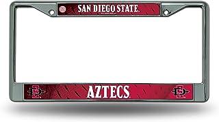 San Diego State Aztecs LBL Metal Chrome License Plate Tag Frame Cover University