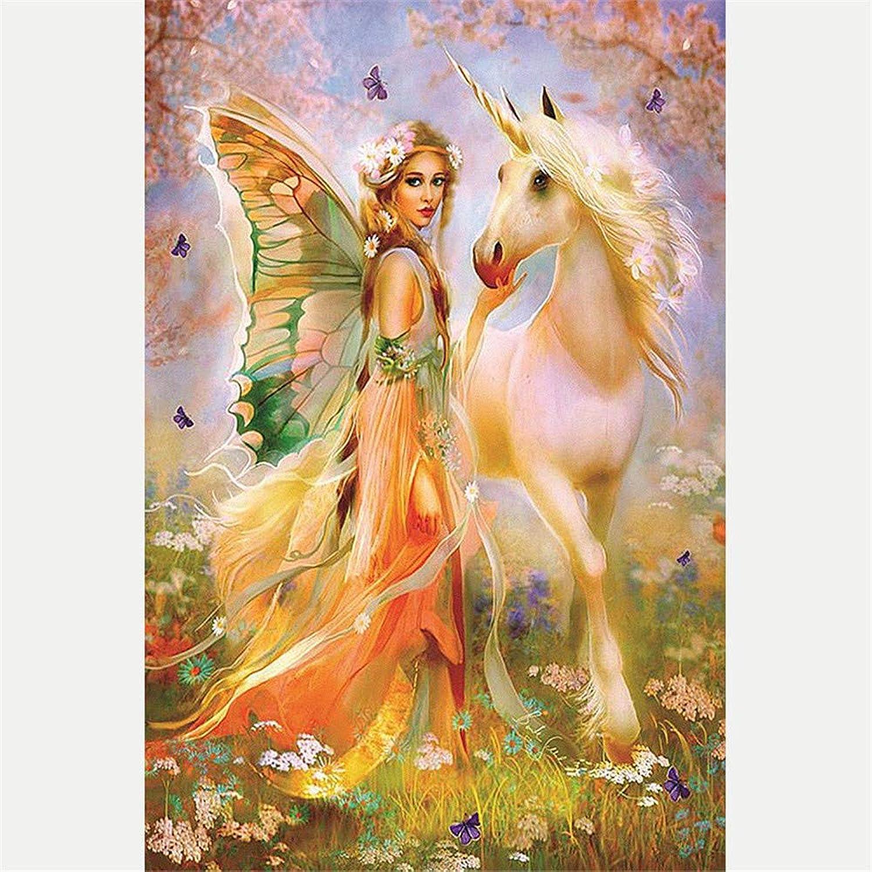 Malen Sie Nach Anzahl Kits DIY Butterfly Fairy Und Einhorn Für Erwachsene Kindergeschenk 40x50cm with Combination Frame B07PP3SG69 | Charakteristisch