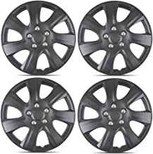 BDK Matte Black Hubcaps Wheel Covers for Toyota Camry 2006-2014 (16 inch) – Four (4) Pieces Corrosion-Free & Sturdy – Full Heat & Impact Resistant Grade – Replica Replacement