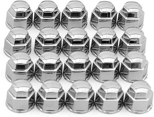 2021 Oxgord 17mm high quality Lug Nut Bolt Cover Set - Chrome Wheel Lugnut Cap for sale Car, Truck, SUV, Van outlet online sale