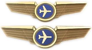 Aviator Kids Airplane Pilot Wings Plastic Pins Pinbacks Badges Lot of 2 Gold