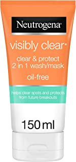 Neutrogena Face Wash, Visibly Clear, 2-in-1 Wash Mask, 150ml