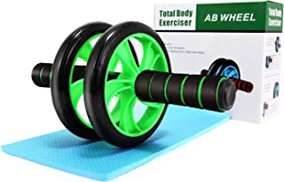 Wesoke Ab Wheel Roller, Professional Abdominal Fitness Equipment with Soft Knee Pad for Home Gym Office Boxing Exercise, Ab Crunch Machine with Anti-Slip Handles for Men Women Beginners