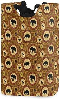 COFEIYISI Grand Organiser Paniers pour Vêtements Stockage,Impression d'animaux Ethniques africains en Zambie,Pliable Sac à...