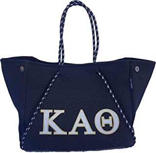Kappa Alpha Theta Sorority Fraternity Neoprene Tote Bags Purses Totes Fall School Overnight Gym Studio Office Travel Beach...