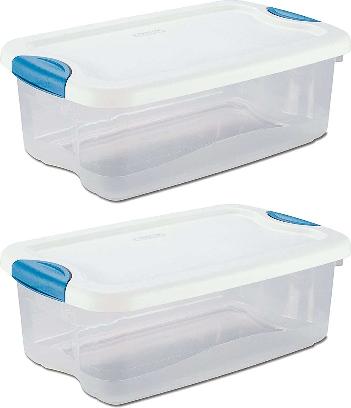 Box Latch White 6 Qt, Pack of 2