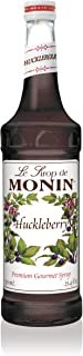 Monin - Huckleberry Syrup, Sweet Blueberry Taste, Fruity Berry Aroma, Great for Mochas, Teas, Lemonades, Sodas, & Cocktail...
