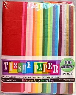 Creative Hobbies Rainbow Color Tissue Paper Bonus Pack, 20