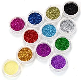 Beauty7 Glitter Tattoo Body Art Stencil Party Temporary Face Painting 12 pcs Large Glitter Colors Cosmetics for kids Teenager Adult