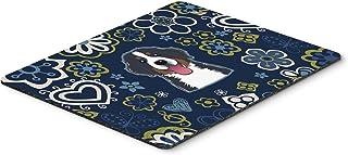 Caroline's Treasures BB5088MP Blue Flowers Bernese Mountain Dog Mouse Pad, Hot Pad or Trivet, Large, Multicolor