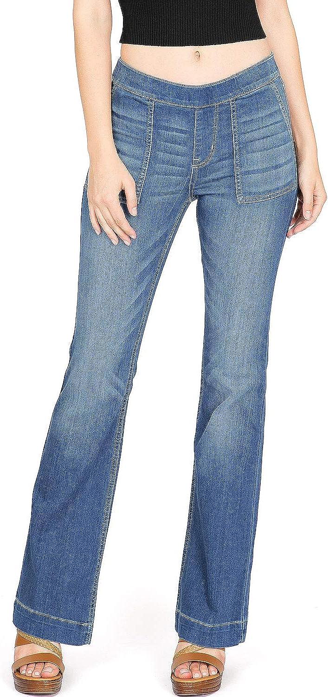 Cello Jeans Women's Juniors Classic Mid Rise Bootcut Pants