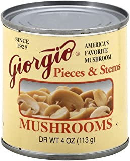 Giorgio Mushrooms, Pieces N Stems, 4-ounce (Pack of 12)
