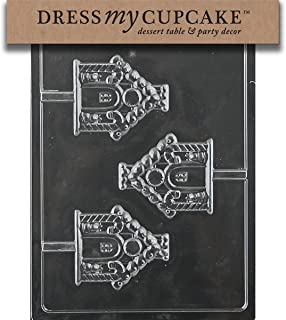 Dress My Cupcake Chocolate Candy Mold, Gingerbread House Lollipop, Christmas