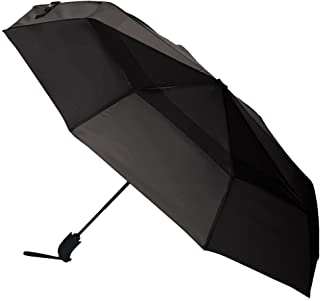 AmazonBasics Automatic Open Travel Umbrella with Wind Vent - Grey