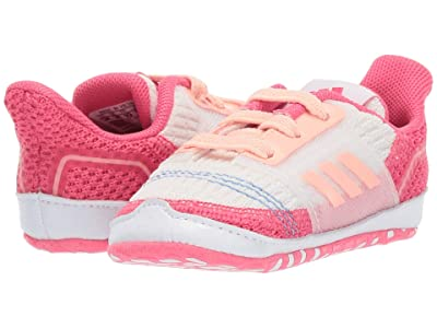 adidas Kids UltraCrib (Infant) (White/Glow Pink/Real Pink) Girls Shoes