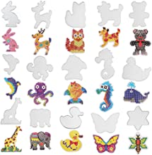 MAMUNU 5 mm 15 PCS Fuse Beads Boards Set, Animal-Shaped Small and Large Clear Plastic Fuse Beads Pegboards Template Beads Boards for Kids Craft Beads
