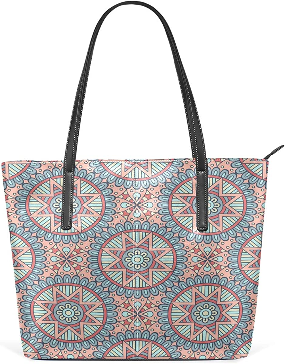 Ethnic Floral Portland Mall Outlet sale feature Mandalas Women's Large Should Lightweight Bag Tote