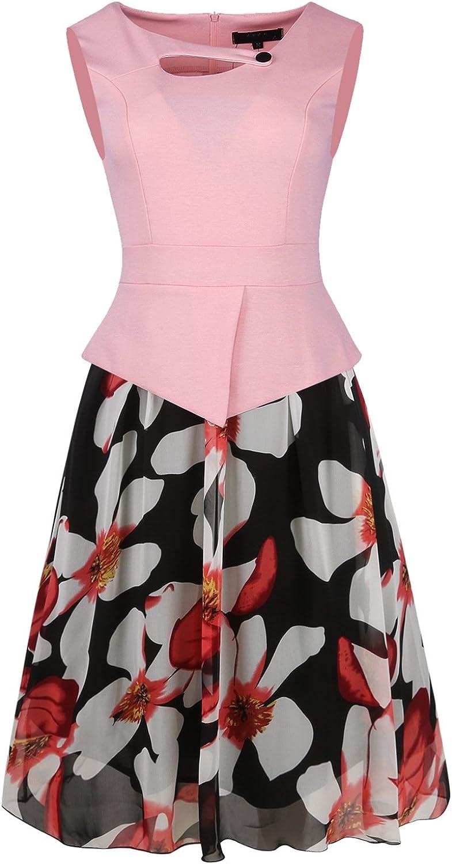 Venxic Women's Elegant Bodycon Formal Dress Office Wear to Work Dress