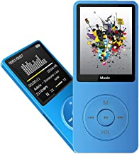 MP3 پلیر ، پخش کننده موسیقی Dyzeryk با کارت حافظه Micro SD 16 گیگابایت ، پخش کننده موسیقی فوق العاده باریک با بلندگوی داخلی ، نمایشگر عکس ، پخش ویدیو ، رادیو FM ، ضبط صوت ، کتاب خوان الکترونیکی ، پشتیبانی تا 128 گیگابایت