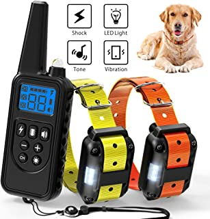 Ace Teah Dog Shock Collar with Remote, Large Dog Training Collar for 2 Dogs, Waterproof