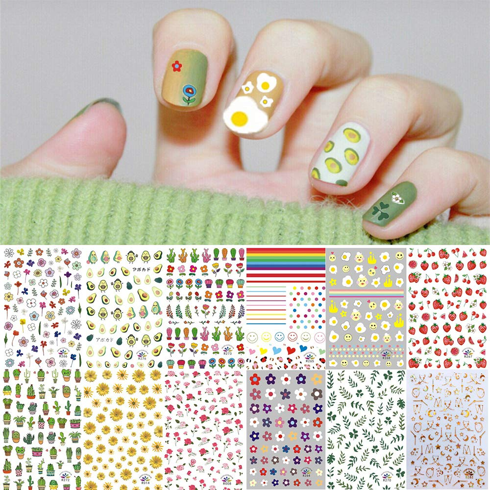 1000+ Patterns Nail Art Stickers Mail order cheap Kalolary for Women Kids Overseas parallel import regular item Decals